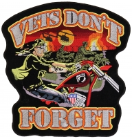 Vets Don't Forget Large Back Patch   US Military Veteran Patches