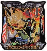 Never Forgotten The Wall Vietnam Patch Large Back Patch   US Military Vietnam Veteran Patches