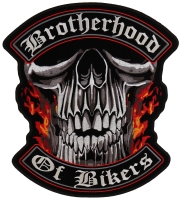 Brotherhood Of Bikers Large Vest Biker Patch   Embroidered Patches