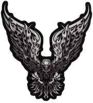 Eagle Monochrome Large Wings Patch Large   Embroidered Patches