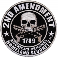 2nd Amendment 1789 Skull Patch Small   US Military Veteran Patches