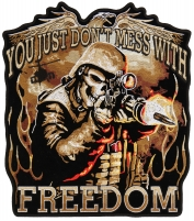 Don't Mess With Freedom Large Patch   US Military Veteran Patches