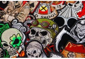 Biker Skull Patches