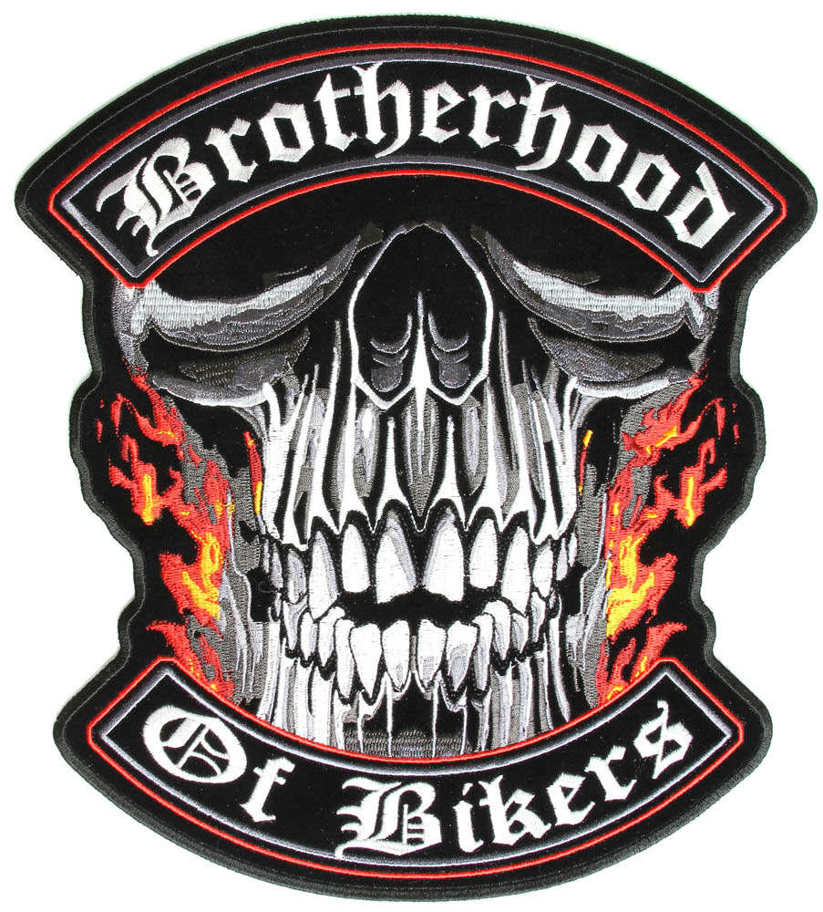 Biker Vest Patches >> Brotherhood Of Bikers Large Vest Biker Patch | Biker Patches -TheCheapPlace