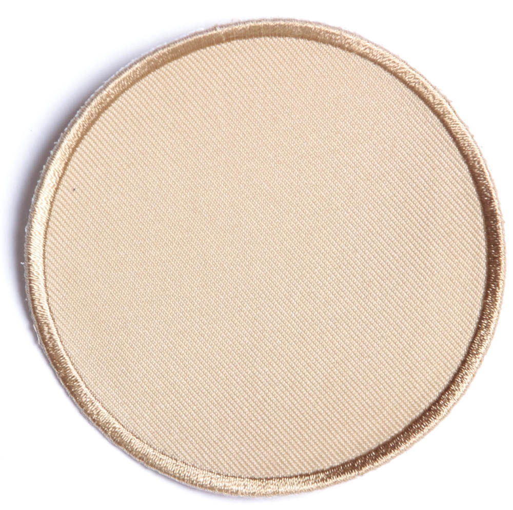 Tan inch round blank patch embroidered patches