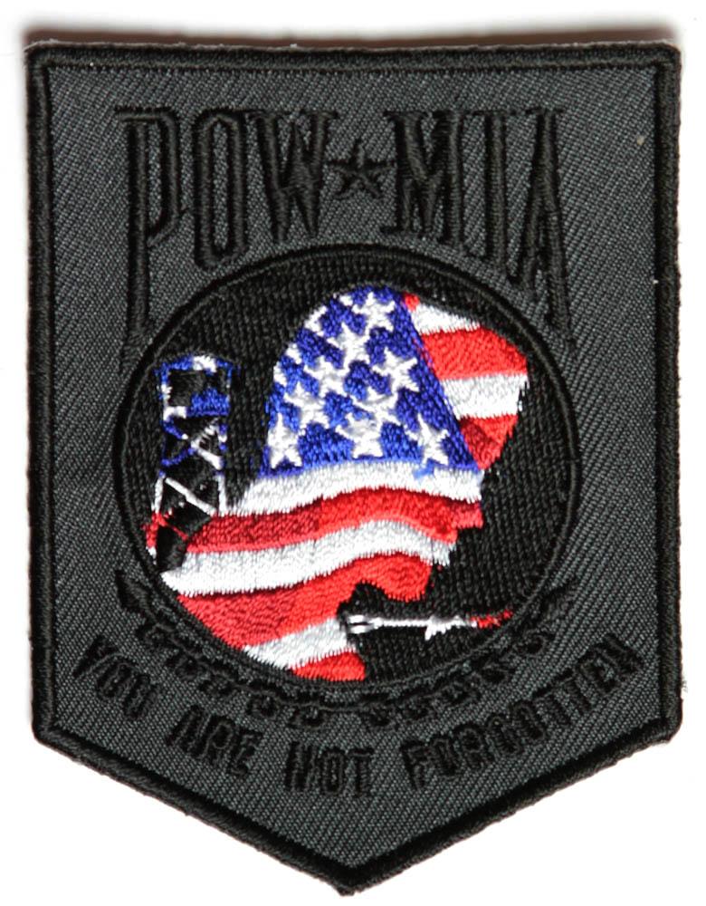 american flag pow mia patch us pow mia military veteran patches - Pow Mia Hat