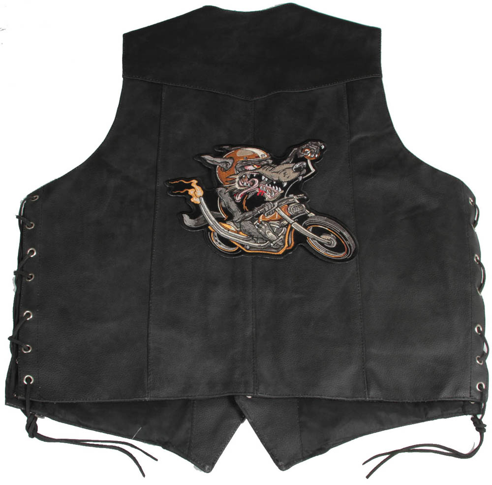 how to sew patches on leather vest with sewing machine