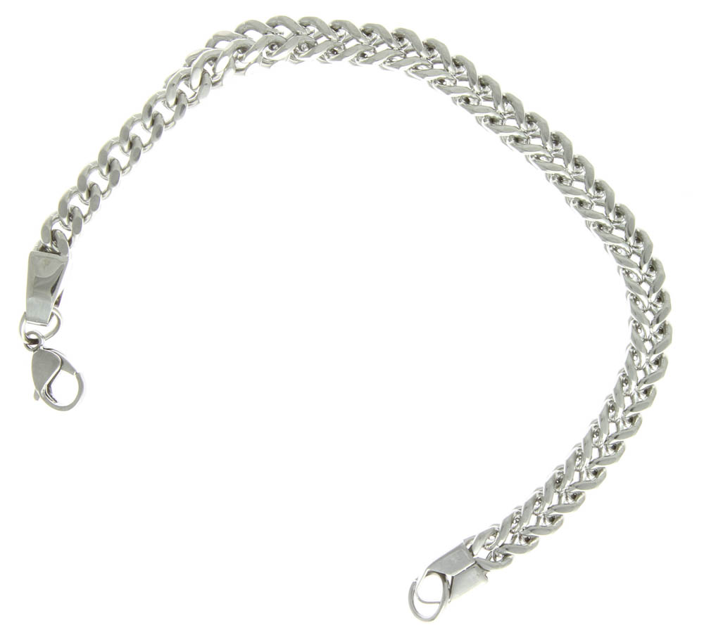stainless steel bracelet square link chain