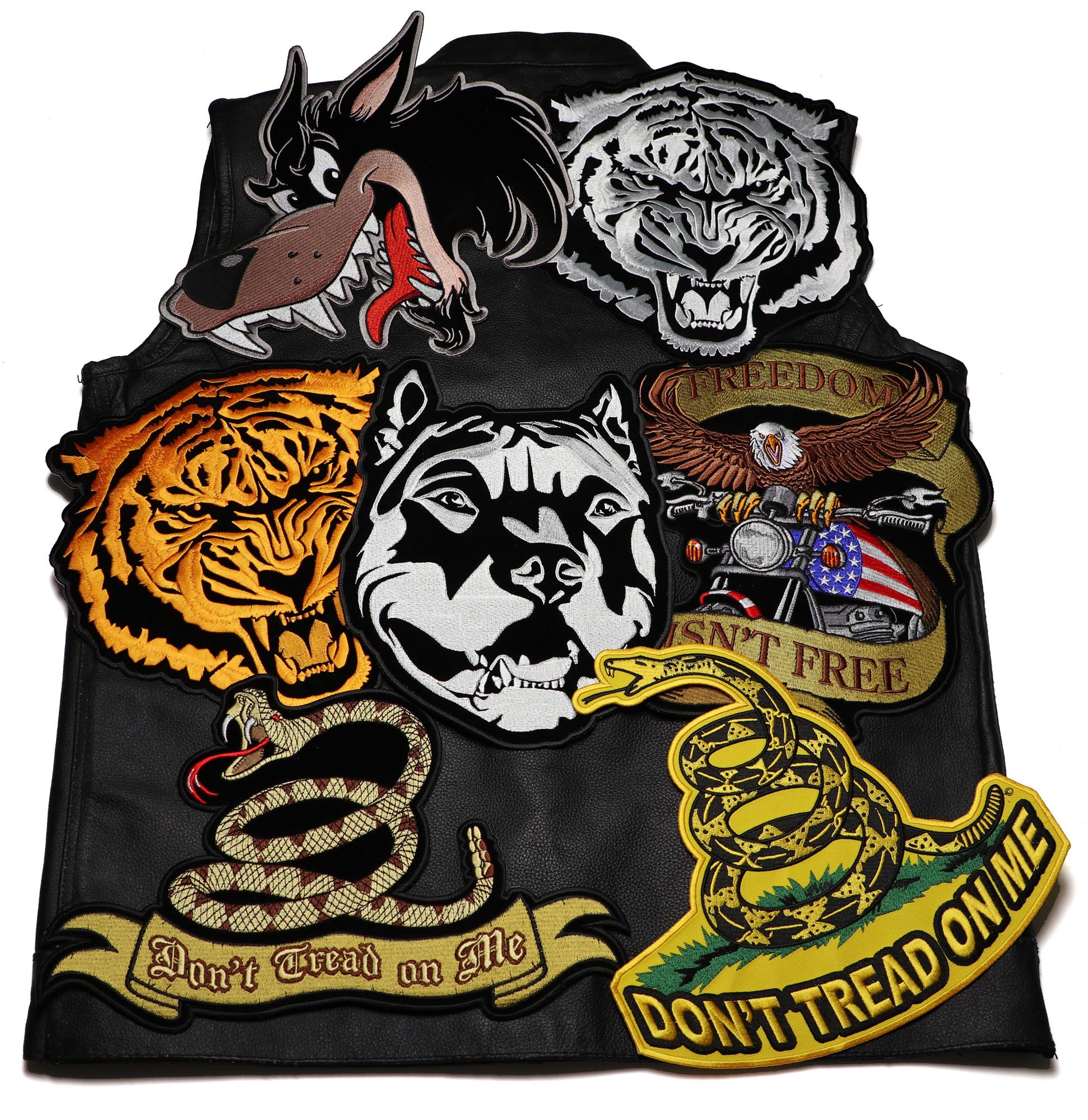 Ride Safe Vest >> Large Patches for the Back of Your Leather Riding Vest