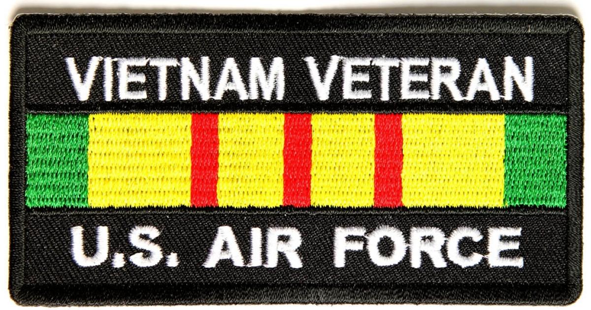 Vietnam Veteran Air Force Patch Rect