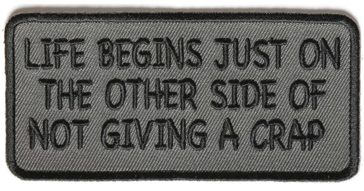 BRAND NEW FUGGETABOUTIT FUNNY BIKER IRON ON PATCH