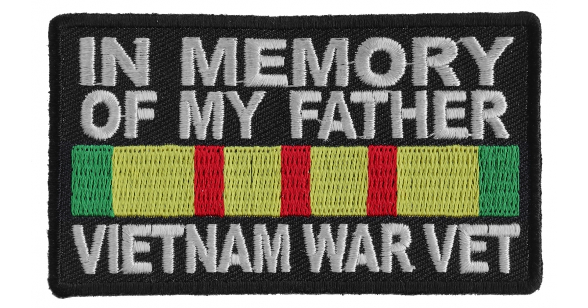 Yellow VIETNAM WAR VET Green Red and White  Top Rocker Patch