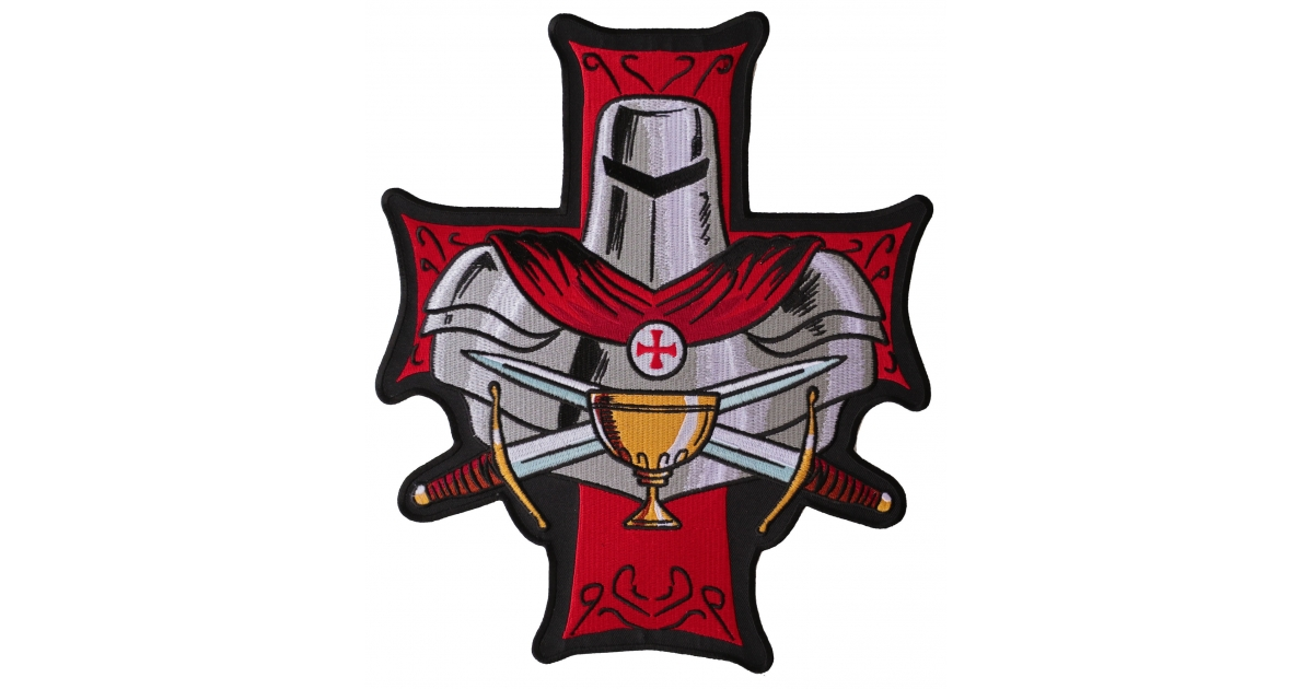 patch iron embroidered crusader knights templar cross army chrisitan religious V