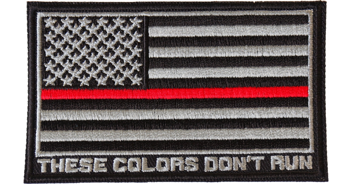 Red Line American Flag >> Thin Red Line American Flag These Colors Don T Run Patch