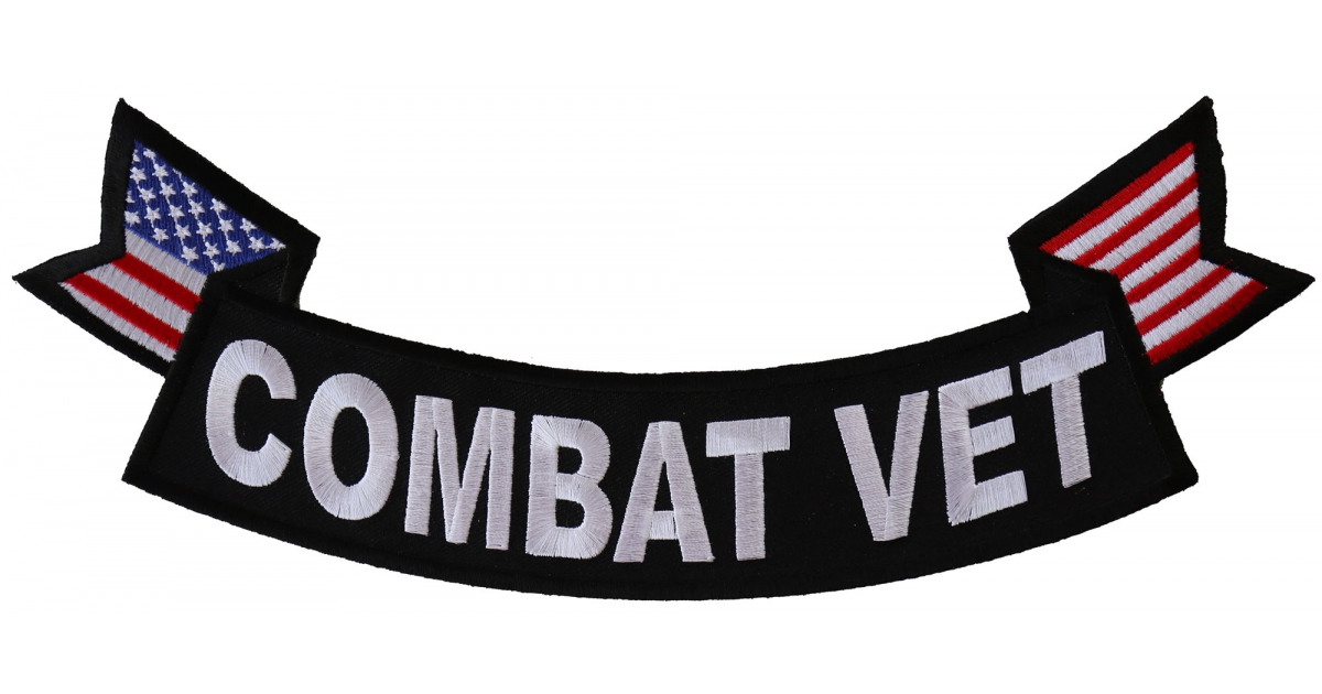ARMY VETERAN Large Embroidered Biker Patch