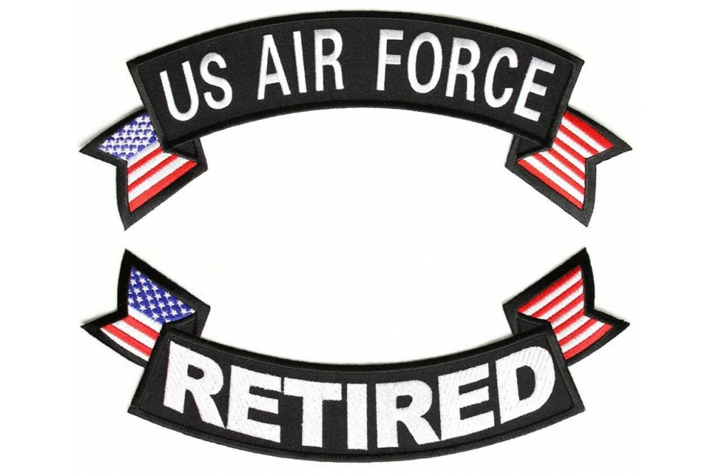 1e50876c622 US Air Force Retired 2 Piece Back Patch Set