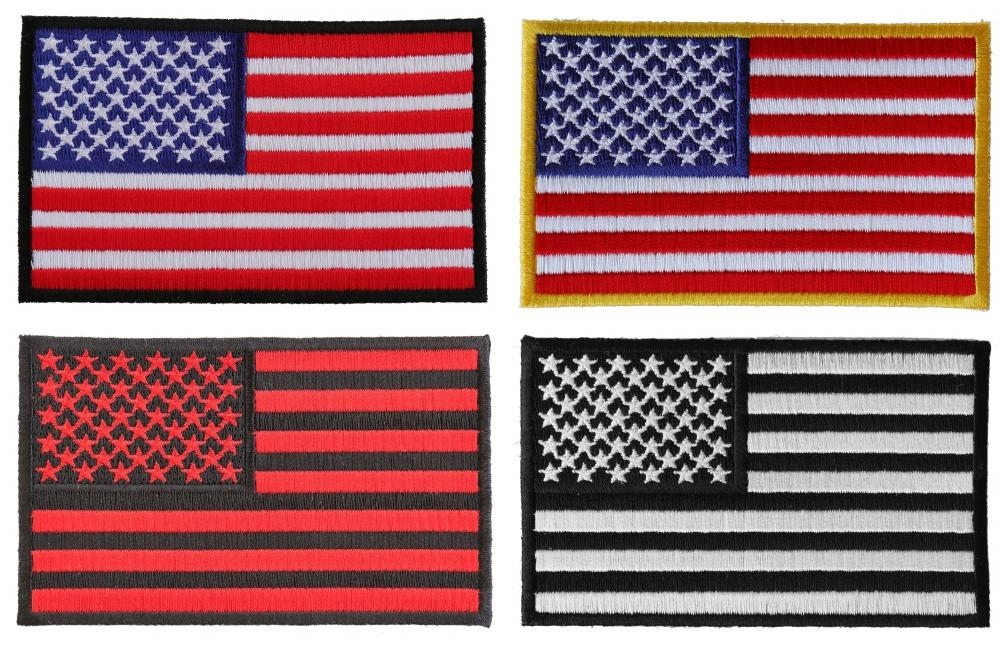 """USA American Flag Iron On Patch 3.5/"""" x 2.25/"""" New"""