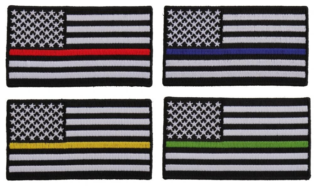 e980c721b4d American Flags With Different Colored Thin Stripes For Servicemen ...