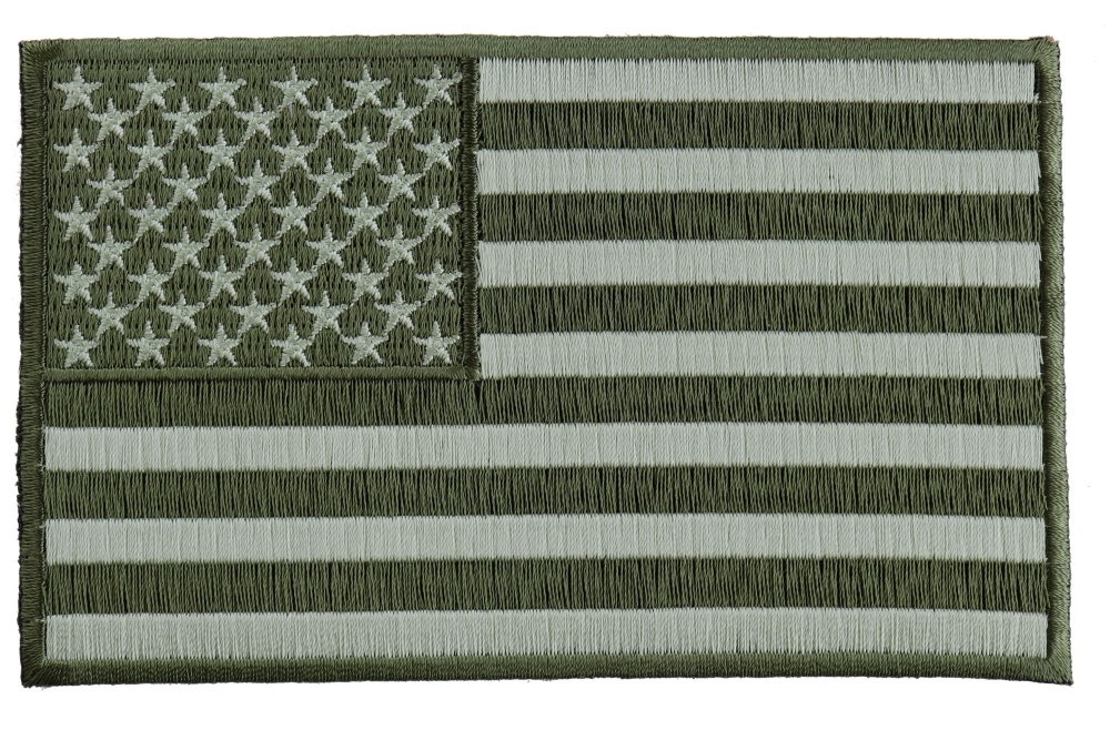 28a8450acfe Subdued Green American Flag Patch Thechelace. Subdued Black White Us ...