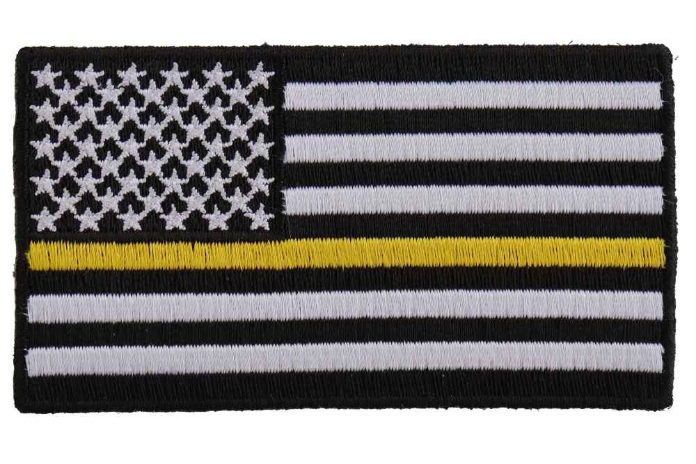 Subdued Yellow Stripe American Flag Patch American Flag Patches