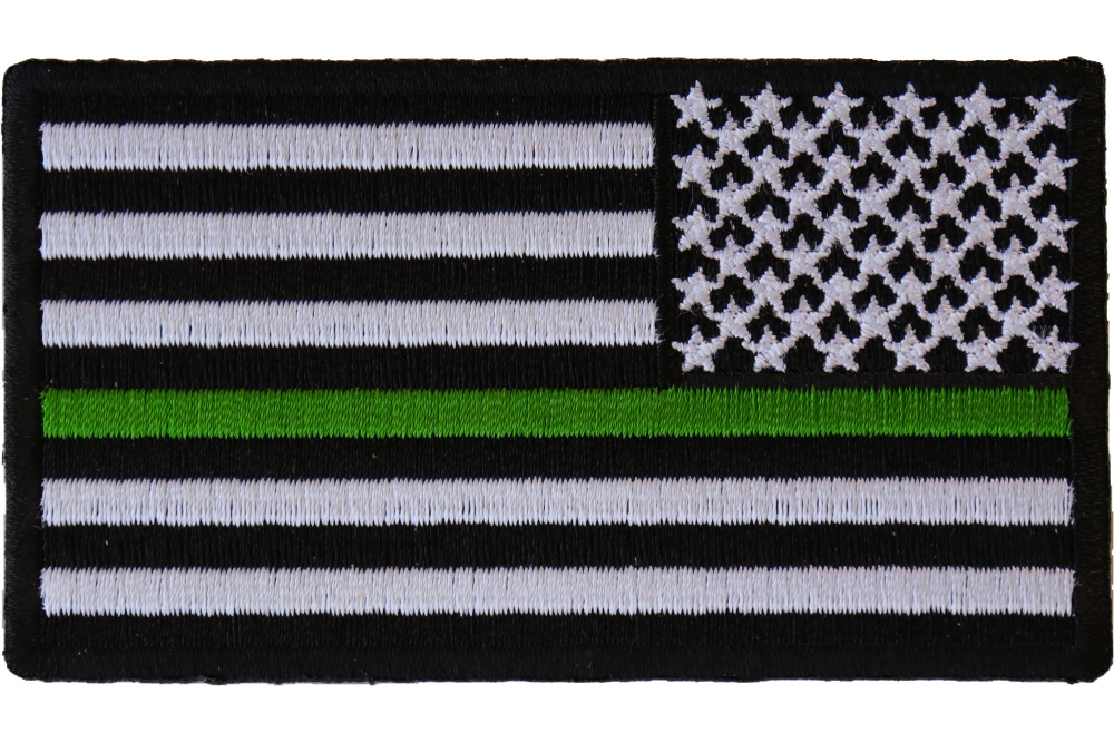 Thin Green Line American Flag Reversed Patch  c7ffcdf3853