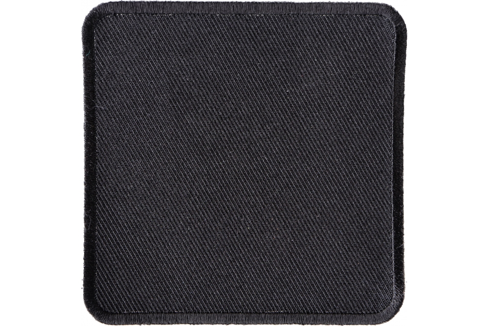 Black 3 Inch Square Blank Patch | Blank Patches -TheCheapPlace
