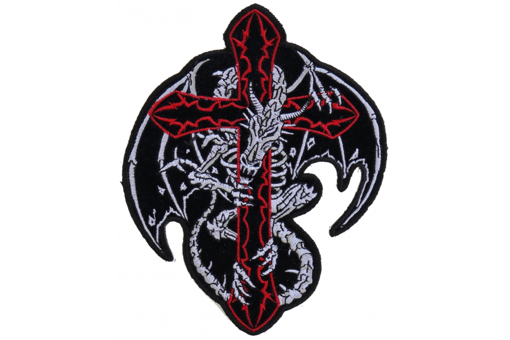 09a5f06e844 Dragon Skeleton Cross Patch Medium