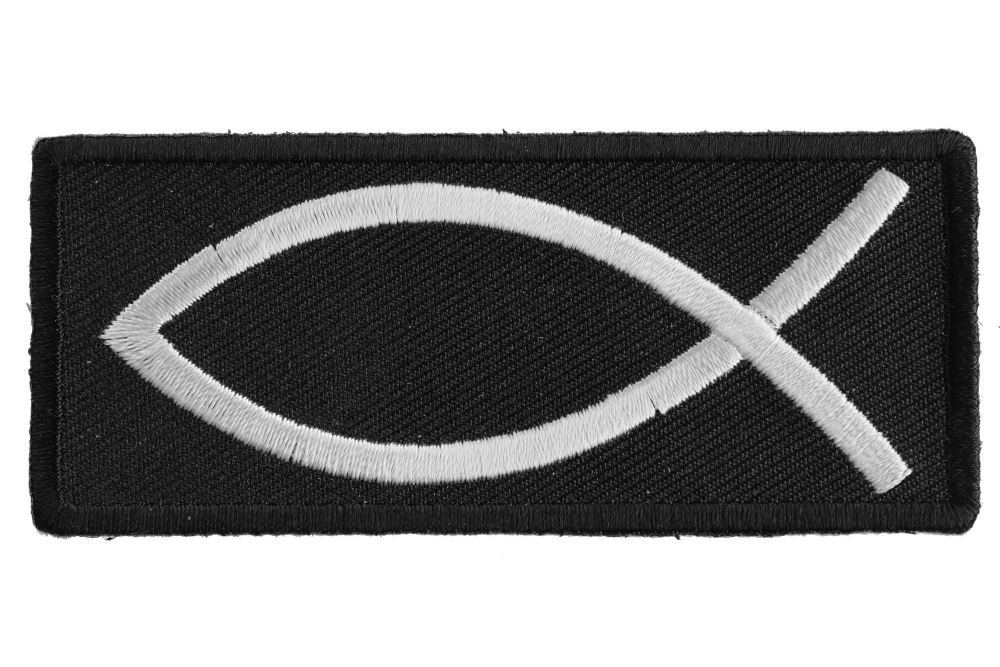 f5f07e317c1 Christian Symbol Fish Sign Patch