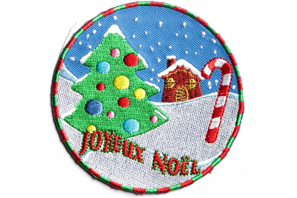 558621818c3 Joyeux Noel Merry Christmas Patch