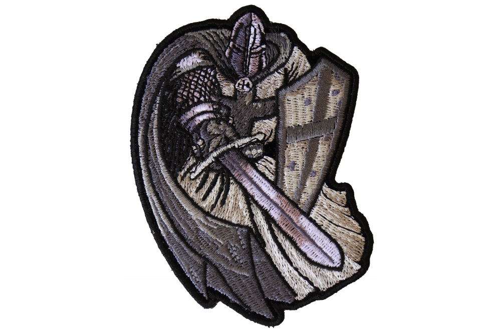 d30f5792dba Silver Cape Templar Knight Patch - TheCheapPlace
