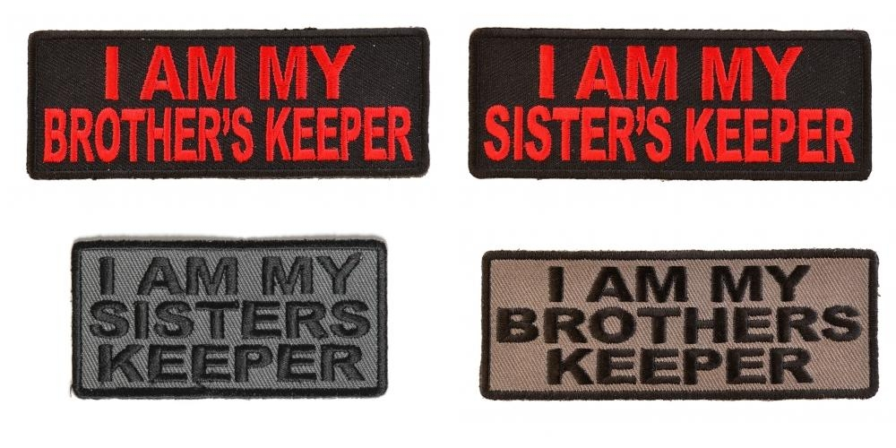 I Am My Brothers Keeper And I Am My Sisters Keeper Patches Set Of 4