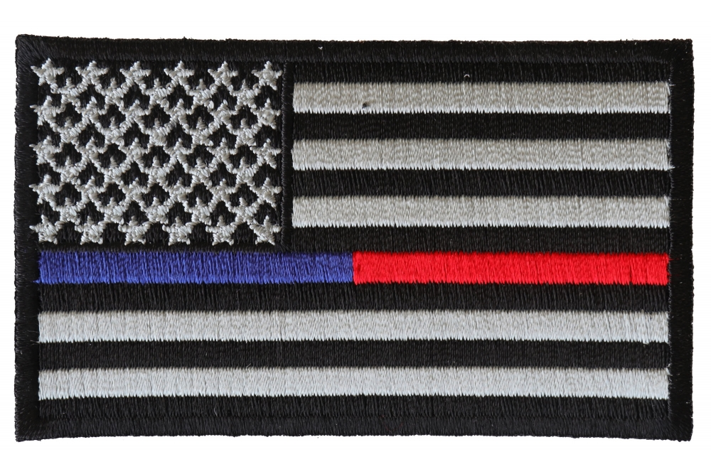 db393c5a41859 Law Enforcement and Firefighter Support American Flag Patch