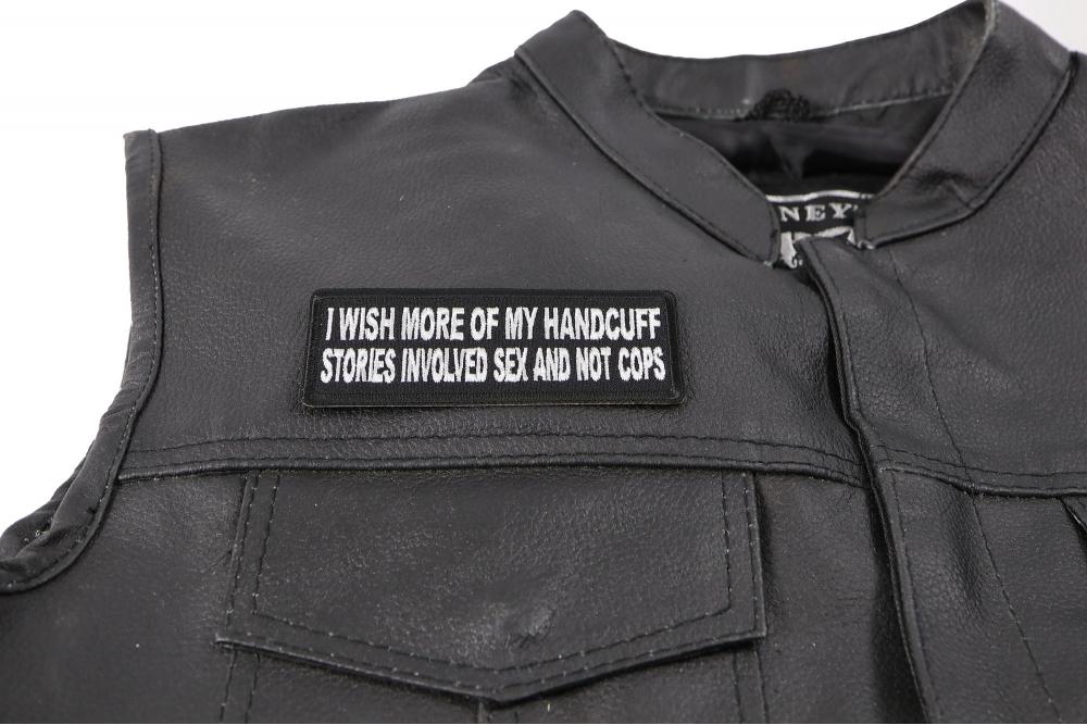 I wish more of My Handcuff Stories involved Sex and Not Cops Patch