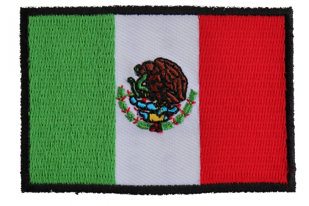 Mexican Pride Flag Embroidered Biker Patch
