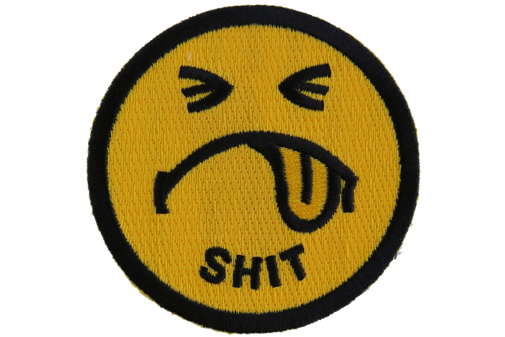 Shit Smiley Face Patch | Naughty Patches -TheCheapPlace