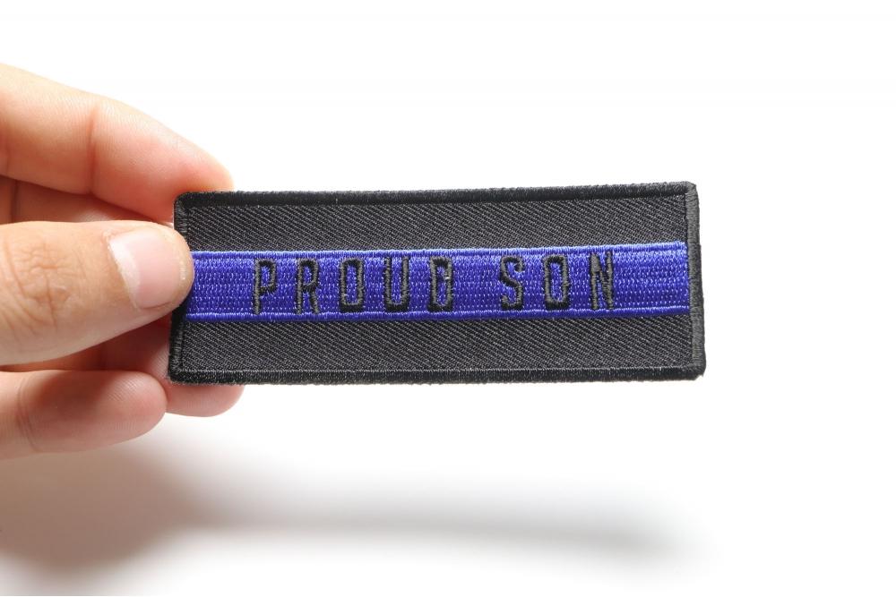 Thin Blue Line Proud Son Patch Law Enforcement