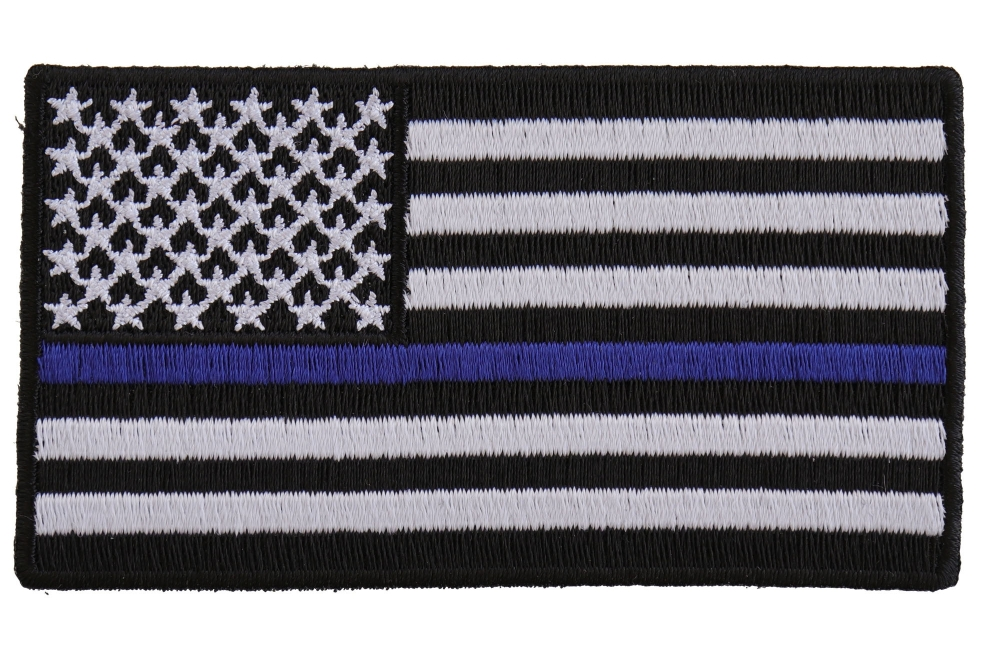 2ba351f51fa60 Subdued US Flag With Blue Stripe Patch | Police Patches -TheCheapPlace