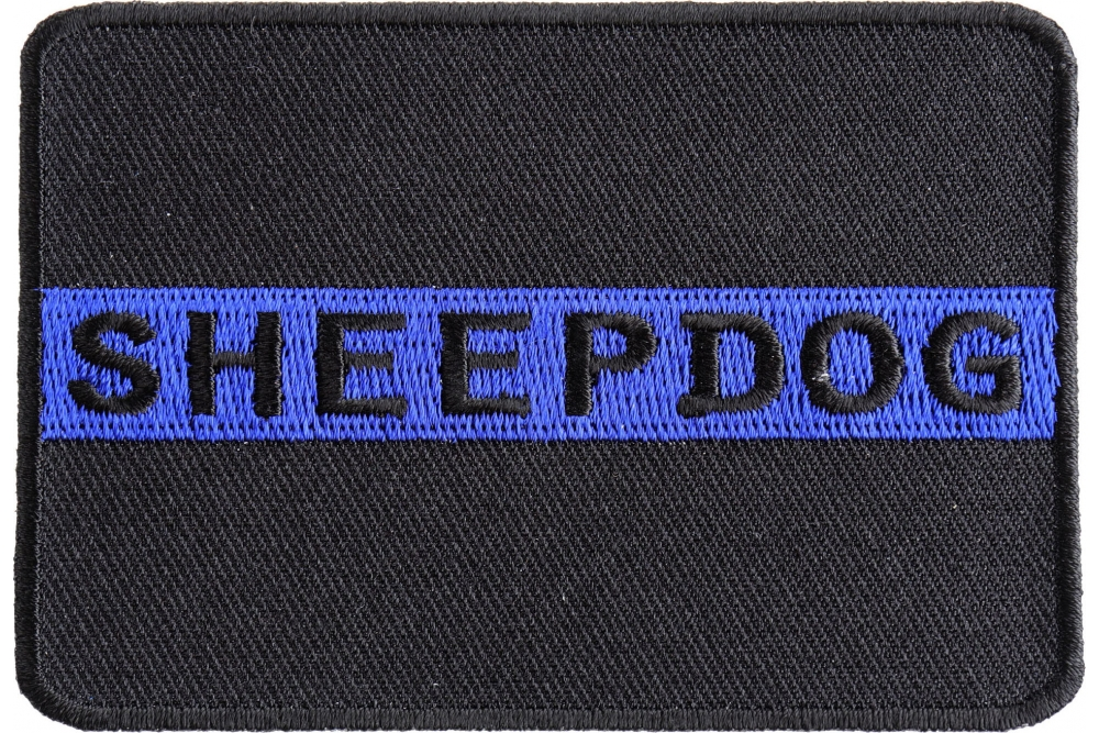 thin blue line ribbon embroidered patch package of 4