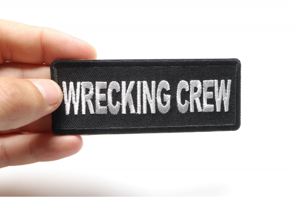 Embroidered Wrecking Crew Sew or Iron on Patch Biker Patch