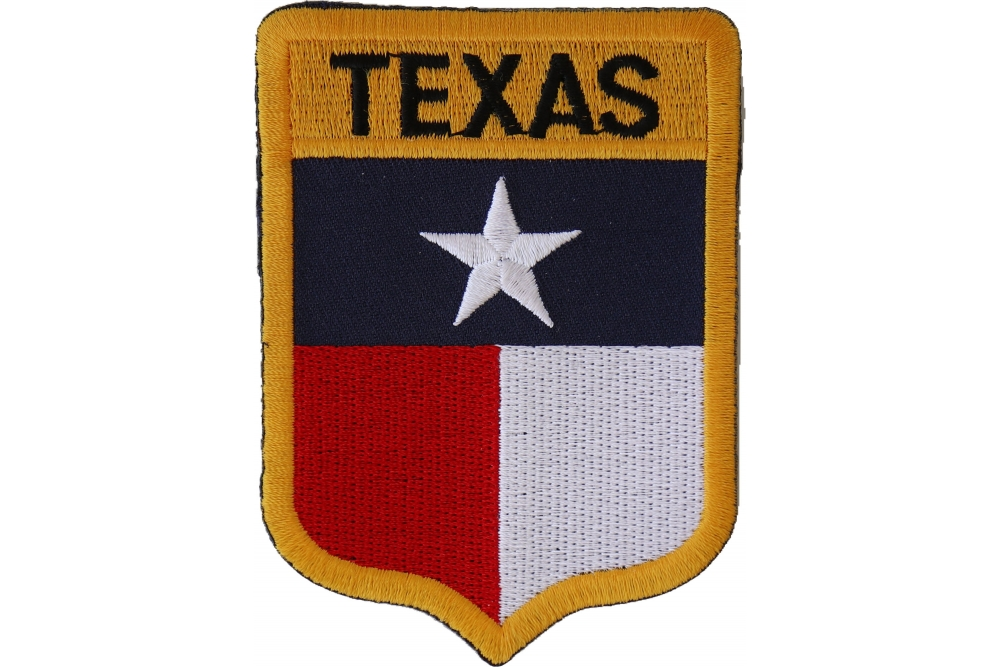 Texas Proud Patch Embroidered Black Border FAST USA SHIPPING