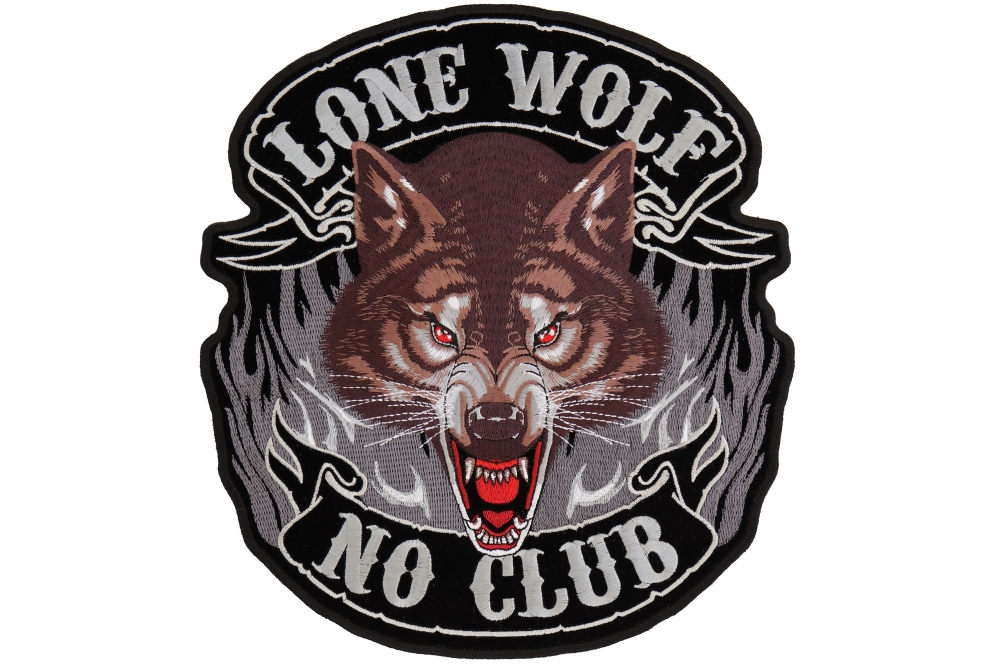 Howling Wolf Indian Dream catcher Embroidered Biker Patch Large FREE SHIP